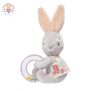 عروسک خرگوش با جغجغه بیبی فن