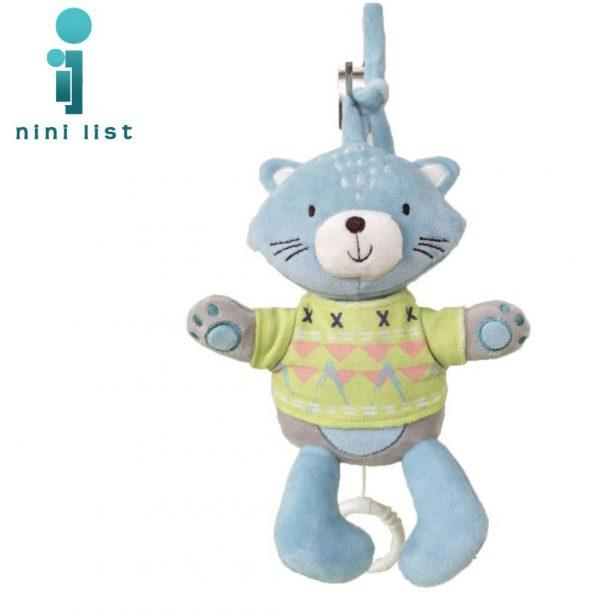 عروسک آویزدار گربه Kikkaboo
