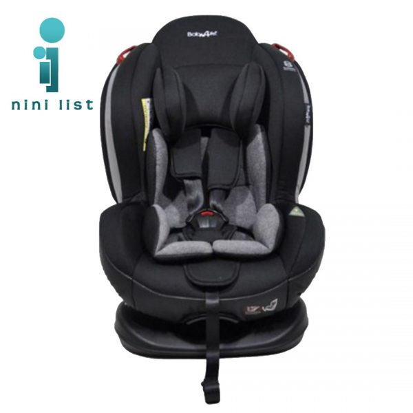 صندلی ماشین ایزوفیکس تاجدار Baby4life مشکی-طوسی